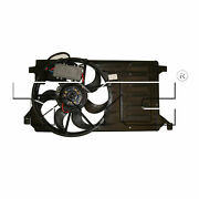 Tyc 622400 Dual Radiator And Condenser Fan Assembly For 10-13 Mazda 3
