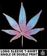 Marijuana Pot Leaf Weed Joint Reefer Stoned High Flower Child Tripping T-shirt 6
