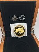 2019 Canada 20 Master Club Iconic Maple Leaves Fine Silver Gold Plated Coin
