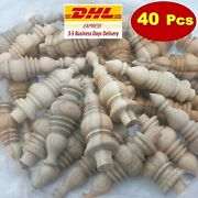 Large Group Of Wooden Finials For Tops Of Clock Cases Unfinished