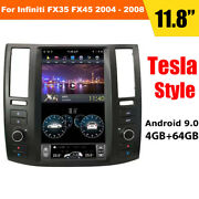 64g Android 9.0 Tesla Vertical Screen Gps Radio For Infiniti Fx35 Fx45 2004-2008