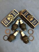Champion C4 Model A B Ford Vintage Antique Spark Plugs C-4 Nice Cond.