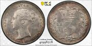 1845 Great Britain 3 Pence Threepence Pcgs Ms62 Lotg725 Silver Nice Unc