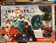 Ps3 Disney Infinity Starter Pack Incredibles Monsters Inc Pirates Caribbean New