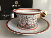 Versace Etoiles De La Mer Tea Cup And Saucer Celebrating 25 Years Rosenthal New