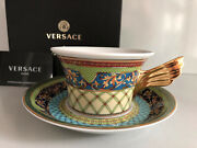Versace Russian Dream Tea Cup And Saucer Celebrating 25 Years Rosenthal New