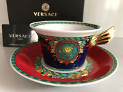 Versace Le Roi Soleil Tea Cup And Saucer Celebrating 25 Years Rosenthal New