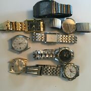 Men's Wrist Watches Assorted Collection Of 8 Used Bulova Boccia Dynasty Cardinal