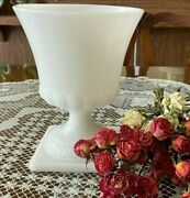 Vintage Eo Brody Co Milk Glass Footed Large Planter Vases 8 1/2 High