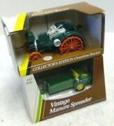 2 1/43 1/32 Ertl Farm Toys John Deere Overtime Tractor And Spreader In Box