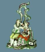 Antique 18th C. Gotha Germany Porcelain Couple In The Garden Figurine Rare Group