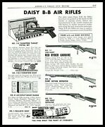1949 Daisy Red Ryder 111 Carbine 25 And 155 Bb Gun Air Rifle 116 Pistol Set Ad