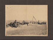 Early Steam Tractor Wheat Harvesting Northwest C. - 1900