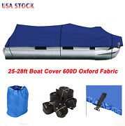 25-28ft Boat Cover 600d Oxford Fabric High Quality Waterproof With Storage Bag