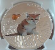 Super Rare 2013 Fiji Colorized Sand Cat Coin .999 Silver Oz Top Pop 4 Ngc Ms69