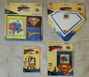 Superman Stamp Collectibles Puzzle, Keychain, Pad, Magnet Usps Vintage 1998