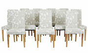 Set Of 12 Contemporary Modern Oak Dining Chairs