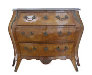 20th Century French Walnut Marble-top Commode