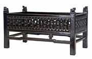 19th Century Chinese Carved Hardwood Lacquered Jardinere