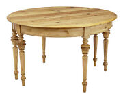 Pair Of Swedish 19th Century Pine Demi Lune Occasional Tables