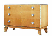 Mid 20th Century Scandinavian Elm And Birch Chest Of Drawers