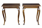 Pair Of 1920and039s Oak Occasional Tables