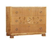 Mid 20th Century Elm And Birch Swedish Grace Chest Of Drawers