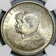 1898 Ngc Ms 65 Portugal 1000 Reis India Discovery Mint State Coin 21031302c