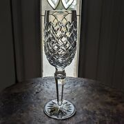 New Waterford Crystal Powerscourt Fluted Champagne Flute Glass 8 1/8 Ireland
