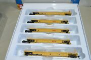 Ho Walthers Trailer Train Ttx Thrall 40' Rebuilt Containers Well Car Set 748141