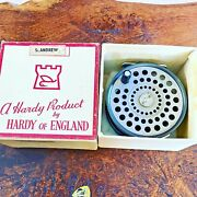 Rare Vintage Boxed Hardy Brothers 4 1/8 Inch St Andrew Salmon Fly Reel And Line