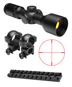 Compact 3-9x42 Rifle Scope + Ring Mounts + Picatinny Rail Fits Ruger 10/22