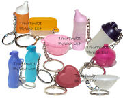 Tupperware Mixed Lot Of 10 Keychains Some Rare Fun Sized Mini Gadgets New Lot W