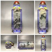 A Crystal Landscape Painted Snuff Bottle Inside Painting Glass Bottles Painted