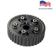 Timing Cam Pulley Adjustable Gear Pully Fit For Honda Civic/crx D-series Black
