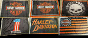 6x Harley Davidson Flags 3x5and039