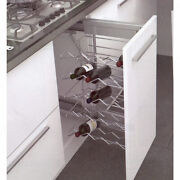 Kitchen Wine Cabinet Pull Out Door Mountable Add Roll Out For 20 Bottles Soft