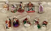 Radko, Lot Of 10 Ornaments With Tags Including On Elfin Eve 98-305-0