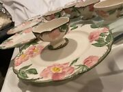 Franciscan Ware Hand Decorated Dishware Set Of 34 Pieces Desert Rose