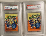 1980-81 Topps Basketball Wax Pack Graded Psa 8 Nm-mt-bird And Magic Rookie Year