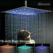 New Led Rainfall Shower Head Automatically Rgb Color-changing Temperature Sensor