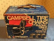 Cambell Chain Radial Tire Cable Chains 1254 14andrdquo 15andrdquo Wheels 1 Pair Vintage