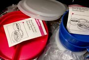 Tupperware New Vintage Munch Kids Divided Plates And Munch Kids Handled Bowls