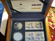 Canada 2004 400th Anniversary St Croix French Settlement Silver Coins Stamp Set.