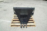 Skid Steer Heavy Duty Stump Bucket, Saw Teeth ,made In The Usa, Fits All