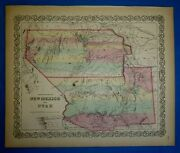 1859 Coltonand039s Atlas Map Utah - New Mexico Territory Old Antique And Authentic
