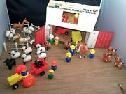 Vintage Fisher Price Little People Play Family Farm 915 + Extras Animals People
