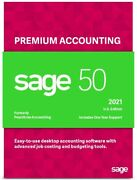 Sage 50 Premium 2021 U.s. 3-users Business Accounting Software Dvd