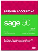 Sage 50 Premium 2021 U.s. 4-users Business Accounting Software Dvd