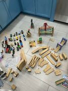 Huge 80+ Lot Thomas The Train And Others Wooden Tracks And Trains